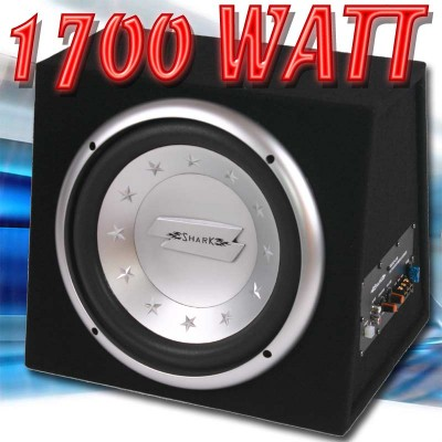 12 subwoofer mit eingebautem verst rker bassbox woofer ebay. Black Bedroom Furniture Sets. Home Design Ideas